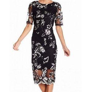 Reduced Marina Embroidered Midi Dress